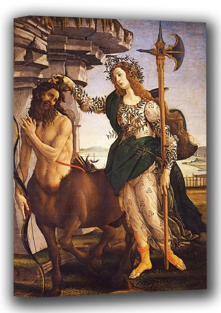 Botticelli, Sandro: Pallas (Athene) and the Centaur. Fine Art Canvas. Sizes: A4/A3/A2/A1 (001889)